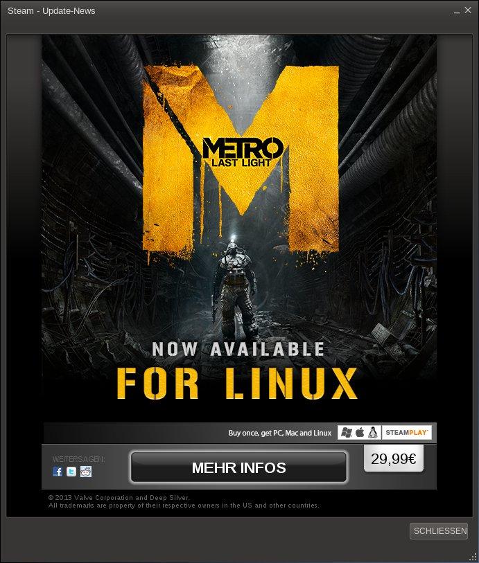 Metro Last Light - Linux