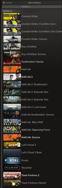 Valve-Spiele